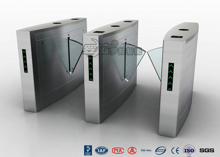 Retractable Flap Barrier Turnstile Durable Anti Pinch Function Time Attendance System