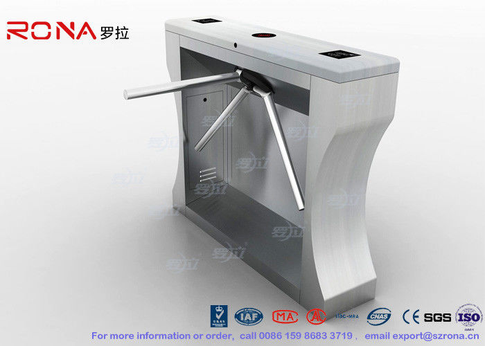 Automation RFID Tripod Turnstile Gate Stainless Steel Access Control For Office Building