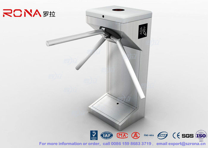Semi Automatic Vertical Tripod Turnstile Entrance 30 Persons / Min For Security System