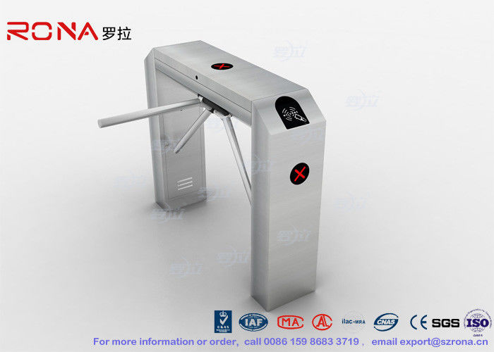 Semi Automatic Tripod Turnstile Gate Security Access Control 304 Stainless Steel Housing