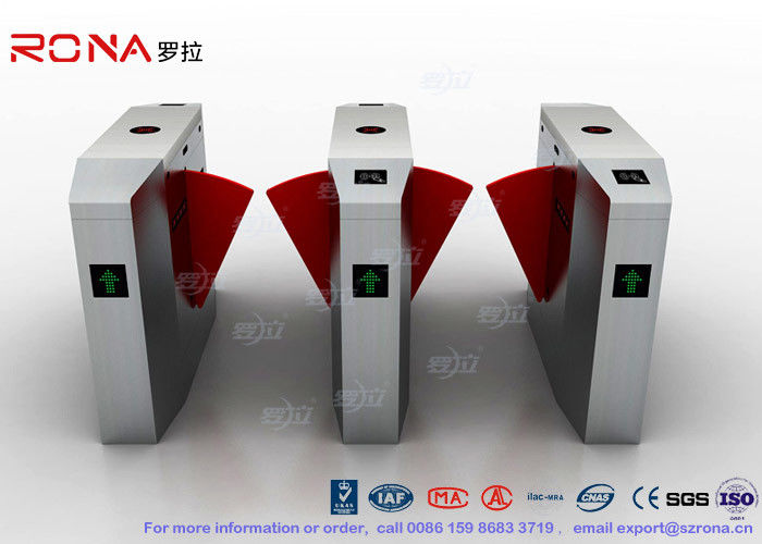 3 Lanes Swing Barrier Gate Card Collector For Biometric Access Control With Face Recognition System