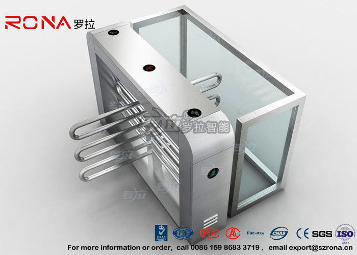 Bus Station Waist Height Turnstiles Coin Collector Remote Control Boom Barrier Gate With 304# stainless steel