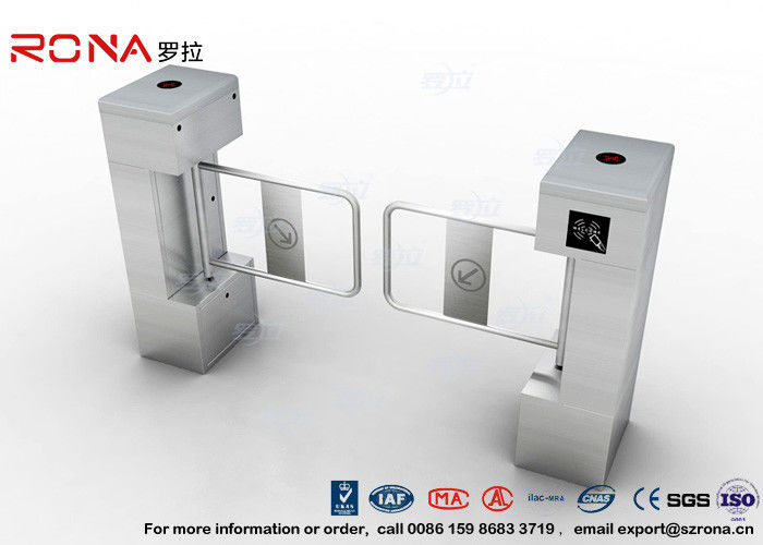 AC 220V IC ID Swing Barrier Gate Swing Flap Barrier Gate 600mm Access Control For Magnetic Turnstile