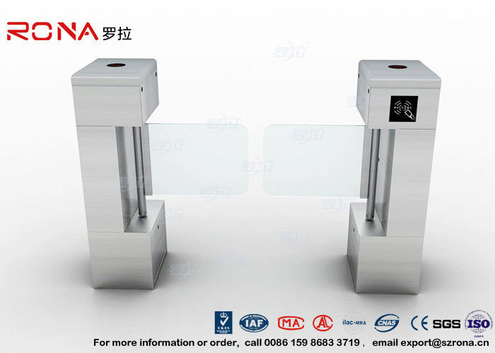 Access Control Card Pedestrian Security Gates Flap Barrier Gate With Bar Code