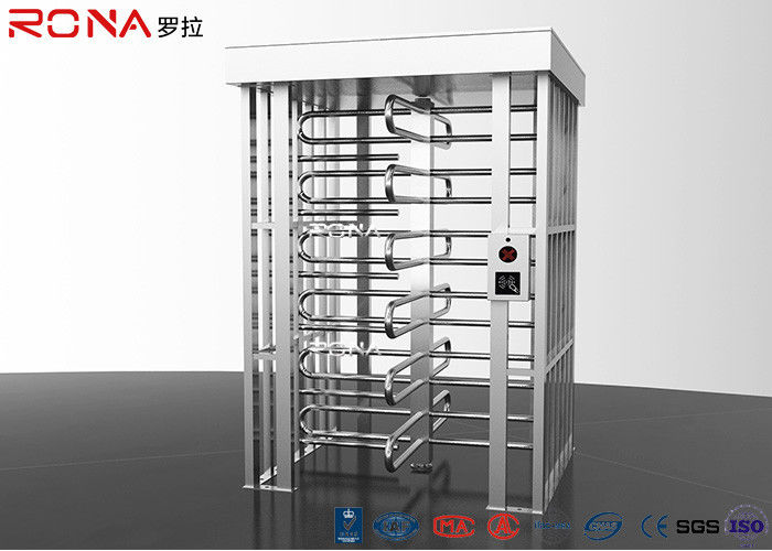 Stainless Steel Full Height Turnstile Pedestrian Secure Channel 0.2s Opening / Closing Time