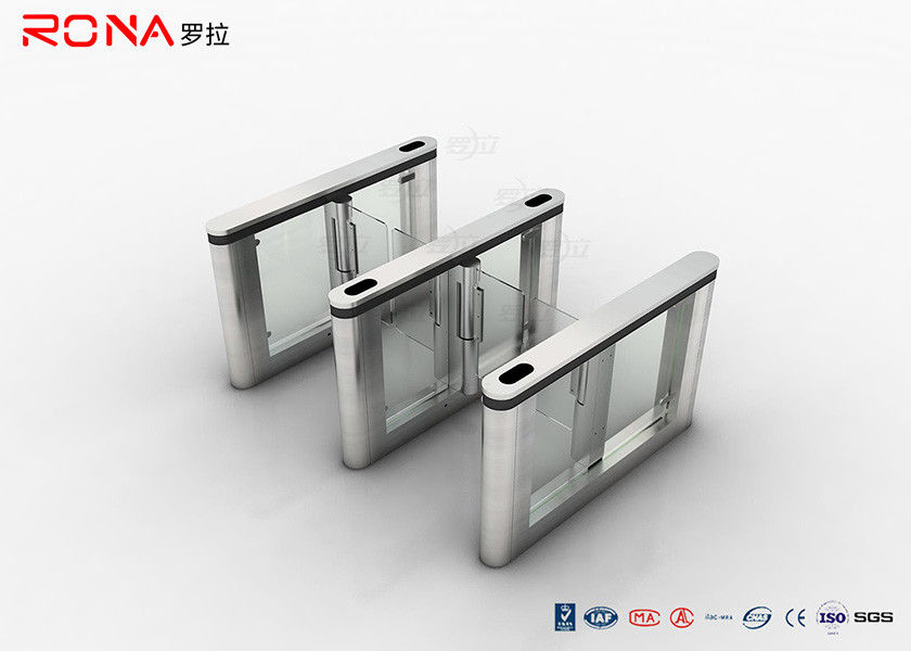 SUS 304 Access Control System High Speed Swing Turnstile Gate At Office Building