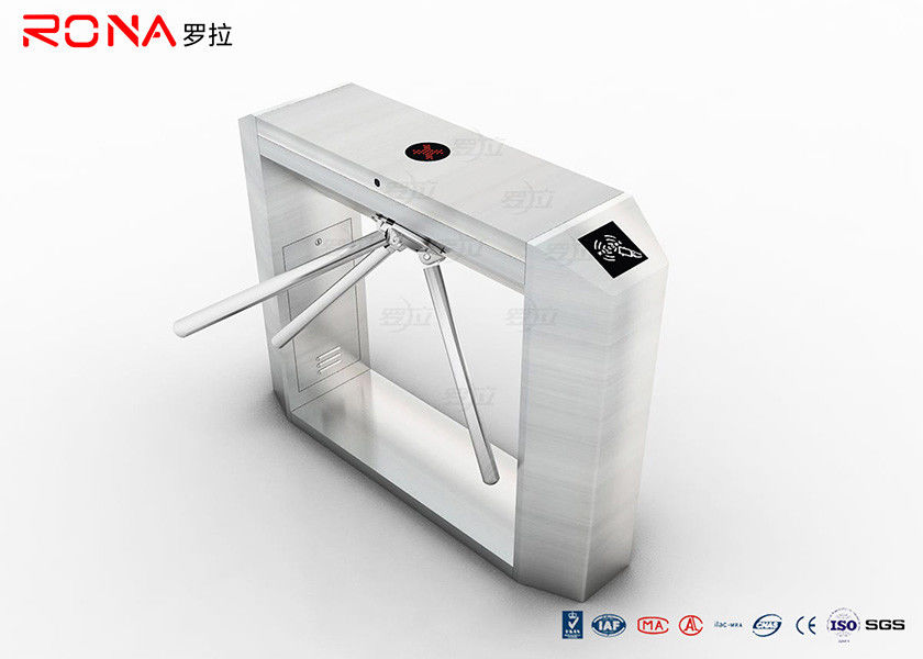 RFID Card Reader Turnstile Security Gate , Tripod Access System 12 Months Warranty